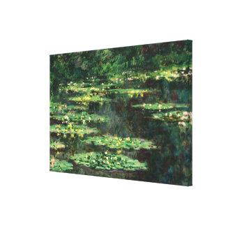 Lirios de agua con reflexiones, Claude Monet Impresión En Lienzo