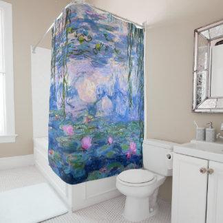 Lirios de agua cortina de baño