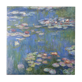 Lirios de agua de Claude Monet // Azulejo Cuadrado Pequeño