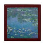 Lirios de agua de Claude Monet Cajas De Recuerdo