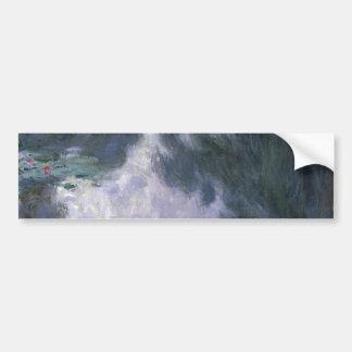 Lirios de agua de Claude Monet. Etiqueta De Parachoque
