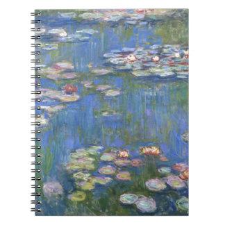 Lirios de agua de Claude Monet // Libretas