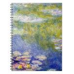 Lirios de agua de Claude Monet Cuadernos