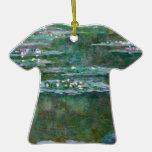 Lirios de agua de Claude Monet // Ornamento De Navidad