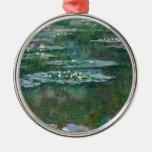 Lirios de agua de Claude Monet // Adorno De Navidad