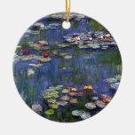 Lirios de agua de Claude Monet Adorno Redondo De Cerámica