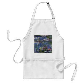 Lirios de agua de Claude Monet Delantal