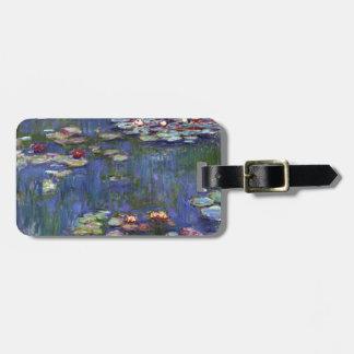 Lirios de agua de Claude Monet Etiquetas Para Maletas