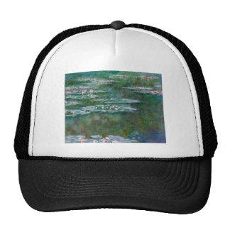 Lirios de agua de Claude Monet Gorros Bordados