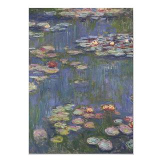 """Lirios de agua de Claude Monet Invitación 5"""" X 7"""""""