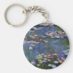 Lirios de agua de Claude Monet Llavero Personalizado