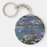 Lirios de agua de Claude Monet Llavero Redondo Tipo Pin