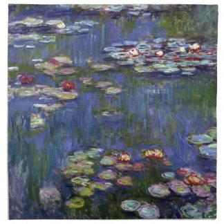 Lirios de agua de Claude Monet Servilleta