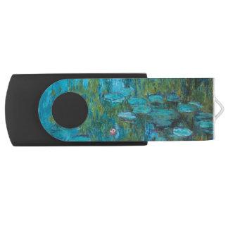 Lirios de agua de Claude Monet Nympheas GalleryHD Memoria USB 2.0 Giratoria