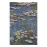 Lirios de agua de Claude Monet Papelería Personalizada