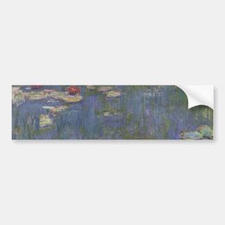 Lirios de agua de Claude Monet Pegatina Para Auto