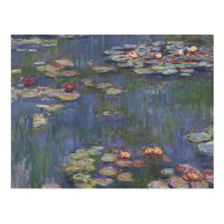 Lirios de agua de Claude Monet Postales