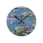 Lirios de agua de Claude Monet // Reloj Redondo Mediano
