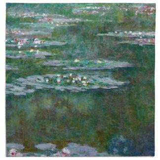 Lirios de agua de Claude Monet Servilletas De Papel