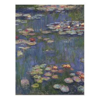 Lirios de agua de Claude Monet Tarjeta Postal