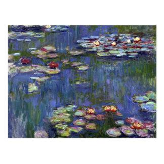Lirios de agua de Claude Monet Tarjetas Postales