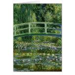 Lirios de agua de Claude Monet y puente japonés Felicitaciones