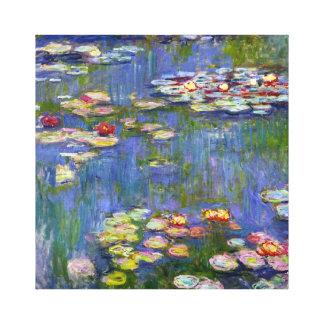 Lirios de agua de Monet 1916 Impresión En Lienzo