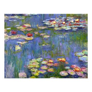 Lirios de agua de Monet 1916 invitaciones Comunicado Personalizado