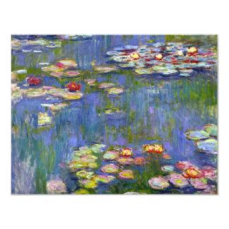 """Lirios de agua de Monet 1916 invitaciones Invitación 4.25"""" X 5.5"""""""