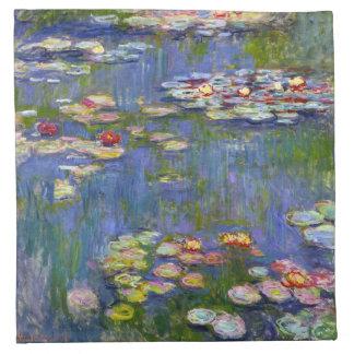 Lirios de agua de Monet 1916 servilletas