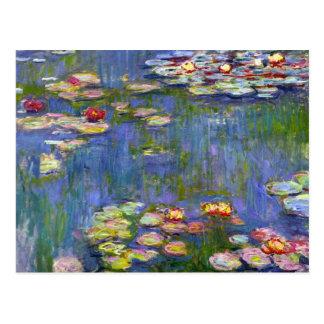 Lirios de agua de Monet 1916 Tarjetas Postales