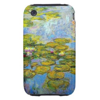 Lirios de agua de Monet 1919 iPhone 3 Tough Fundas