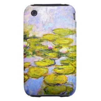 Lirios de agua de Monet 1919 v2 Tough iPhone 3 Funda