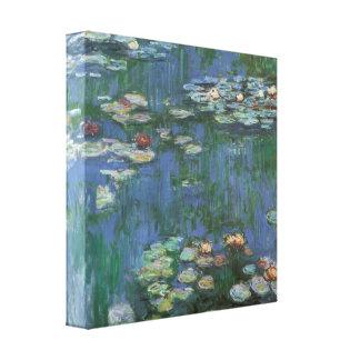 Lirios de agua de Monet del vintage Impresiones En Lona