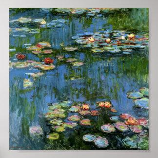 Lirios de agua de Monet Póster