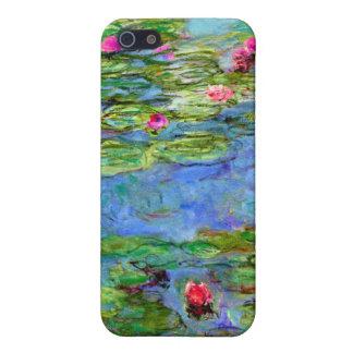 Lirios de agua de Monet rojos iPhone 5 Funda