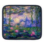 Lirios de agua de Monet v3 Mangas De iPad
