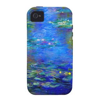 Lirios de agua de Monet v4 Case-Mate iPhone 4 Fundas