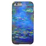 Lirios de agua de Monet v4 Funda De iPhone 6 Tough