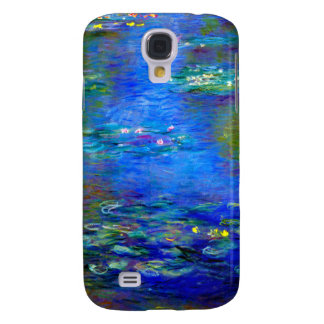 Lirios de agua de Monet v4 Funda Para Galaxy S4