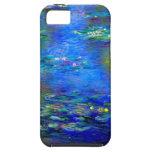 Lirios de agua de Monet v4 Funda Para iPhone 5 Tough