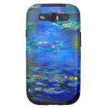 Lirios de agua de Monet v4 Galaxy SIII Carcasas