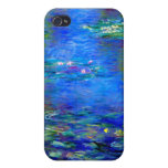 Lirios de agua de Monet v4 iPhone 4 Protector