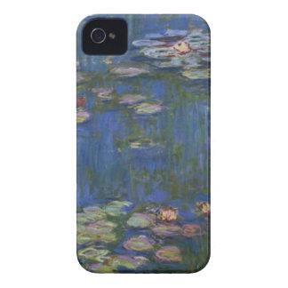 Lirios de agua del detalle de Monet Case-Mate iPhone 4 Fundas