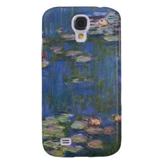 Lirios de agua del detalle de Monet Funda Para Galaxy S4