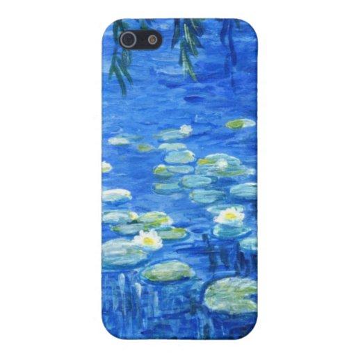 Lirios de agua del impresionismo iPhone 5 carcasas