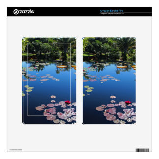 Lirios de agua del jardín botánico de Nápoles Skins Para Kindle Fire