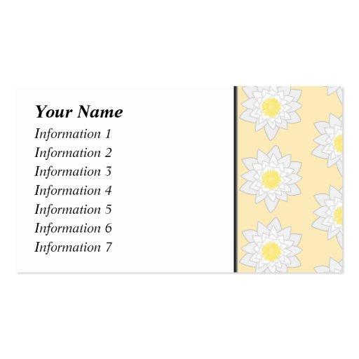 Lirios de agua en colores pastel tarjetas de visita