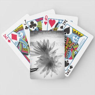 Lirios de agua en monocromo baraja de cartas