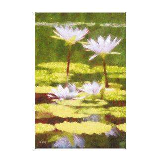 Lirios de agua impresión en lienzo